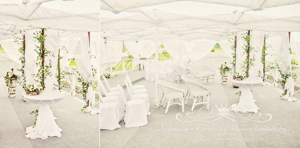 Свадьба в шатре, выездная регистрация