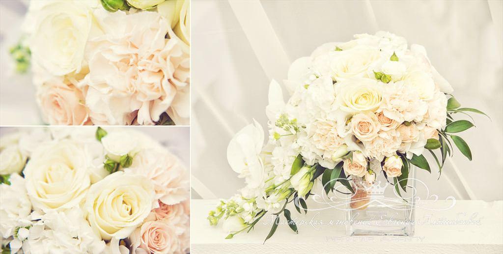 Каскадный букет невесты с орхидеей