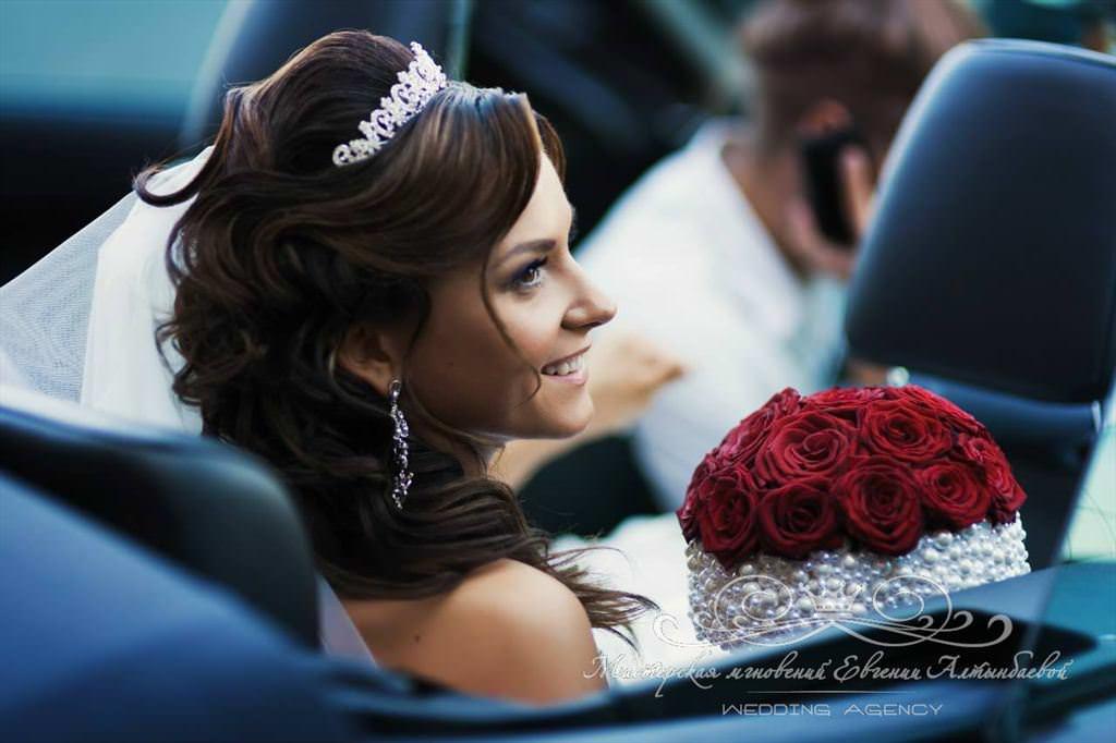 Букет невесты с жемчугом