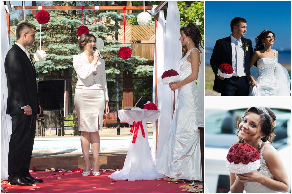Красно-белая свадьба в Касабланке