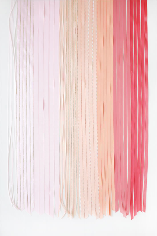 Ленты для оформления стульев на свадьбе нежно-розовые, кремовые, персиковые, коралловые