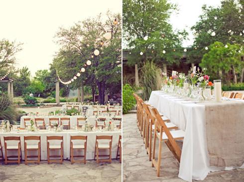 Натуральные ткани в декоре свадьбы