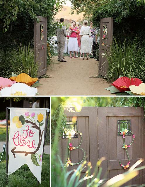 Свадебные ворота и бумажные цветы