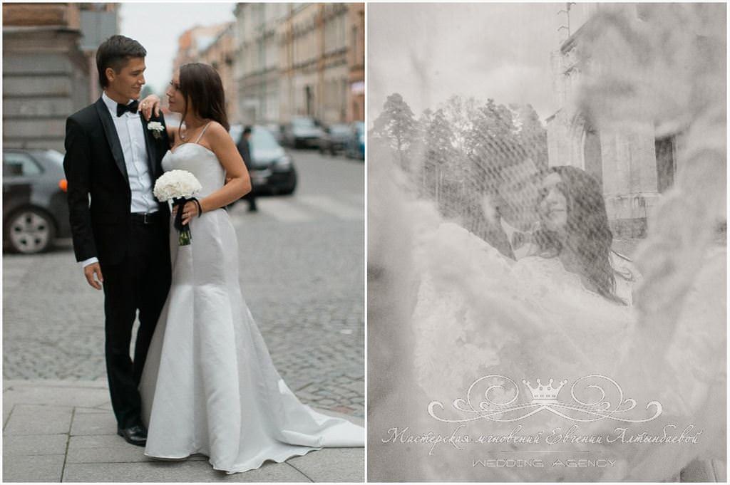 """Образ жениха и невесты """"Чёрное и белое"""""""