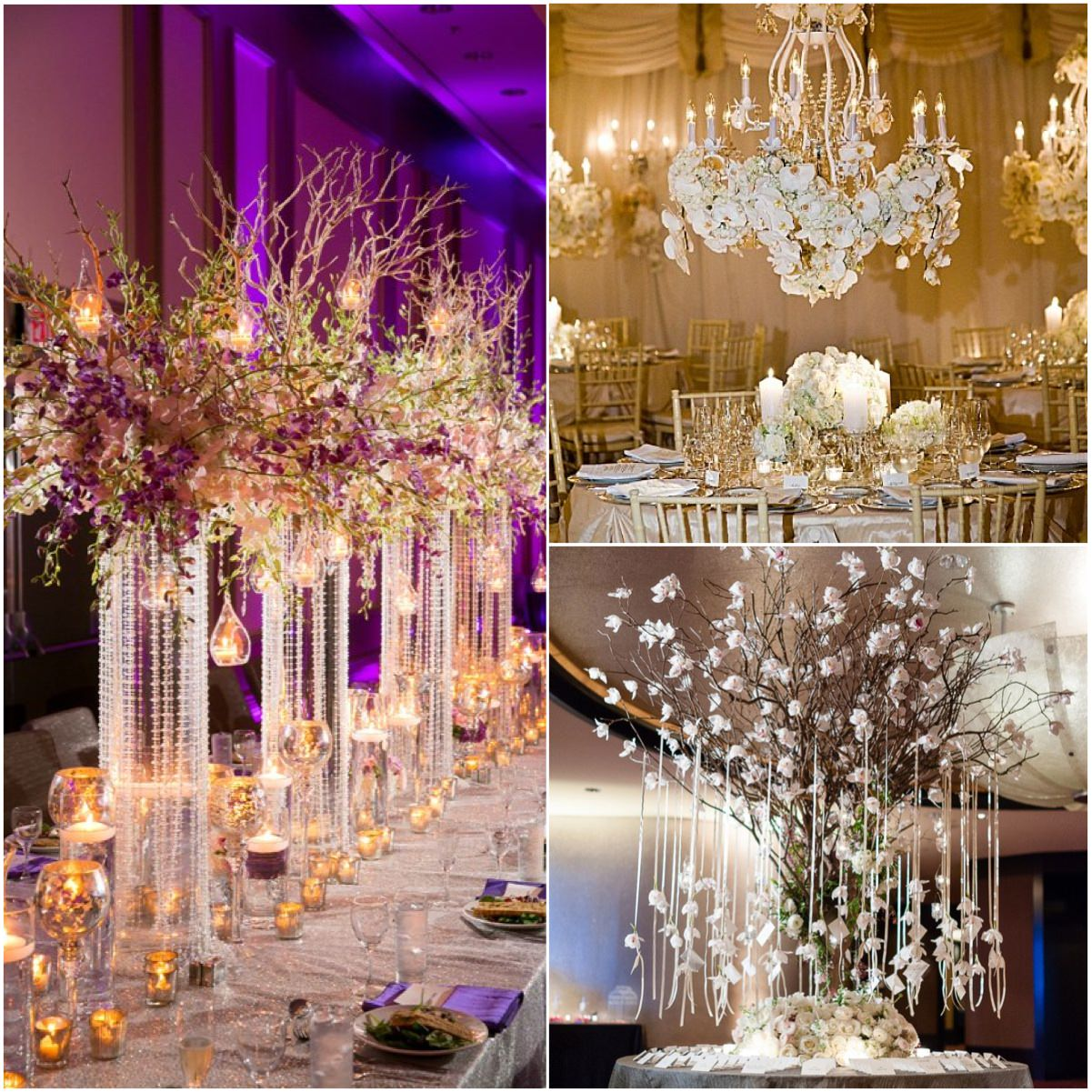 Роскошный свадебный декор из живых цветов