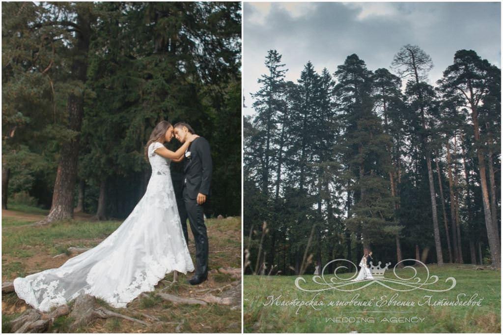 Свадебняа фотосессия на природе в Шуваловском парке