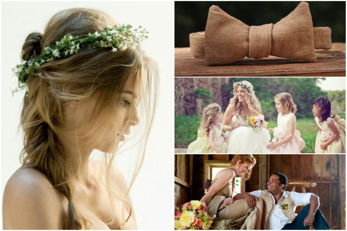 Образ жениха и невесты для свадьбы в стиле рустик