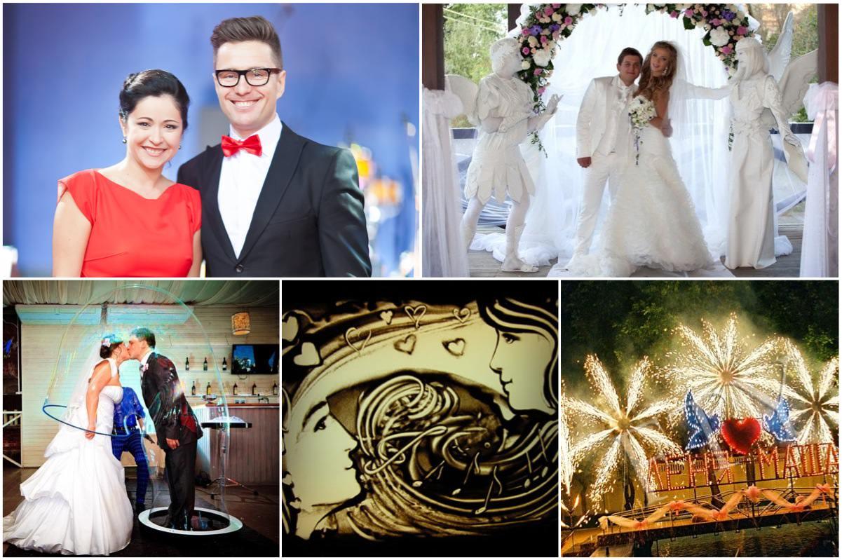Ведущий свадьбы, живые статуи, песочное шоу, фокусники, музыканты, салют