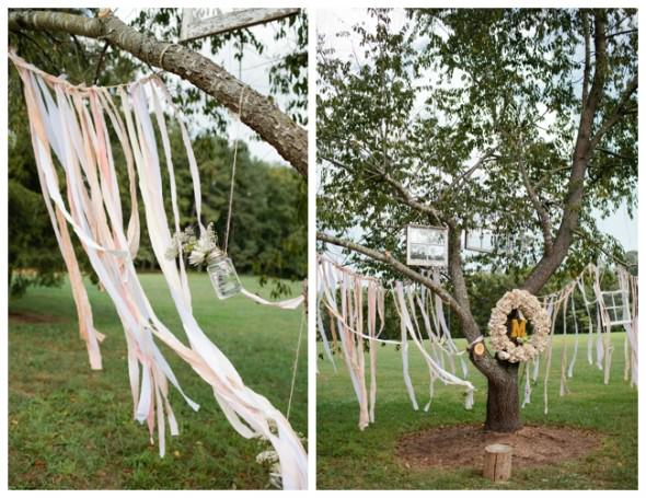Свадебная церемония под деревом