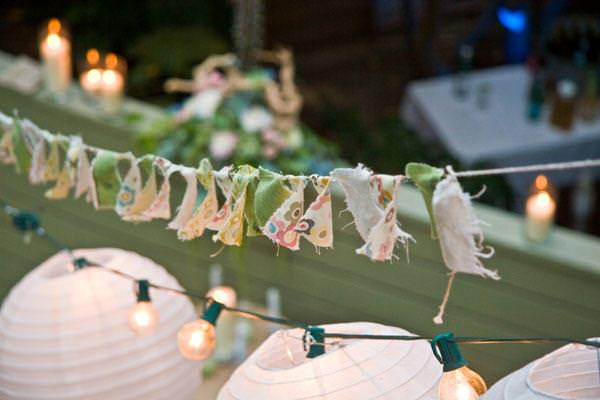 Текстильная гирлянда на свадьбу