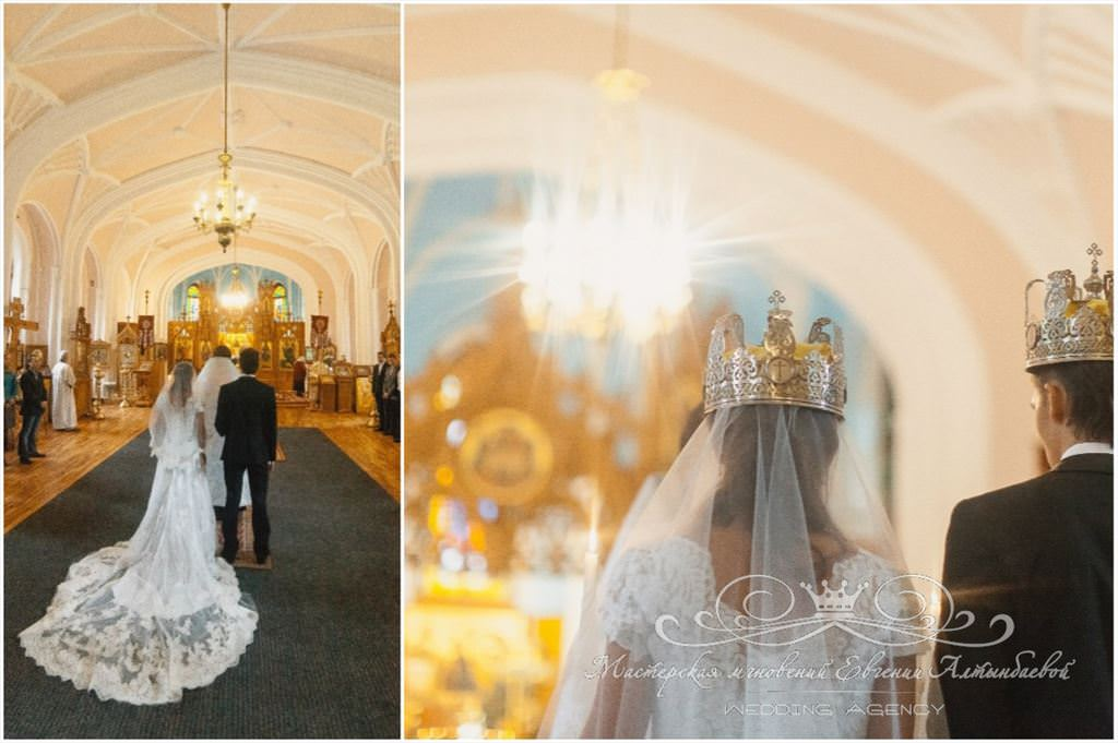 Церемония венчания в храме Петра и Павла