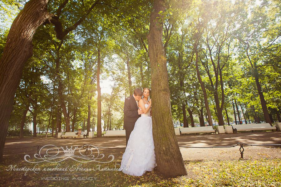 Свадебная прогулка по парку