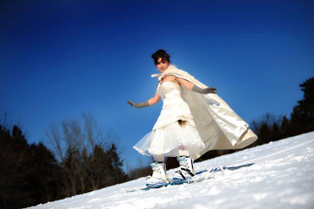Оригинальный варианты свадебной прогулки