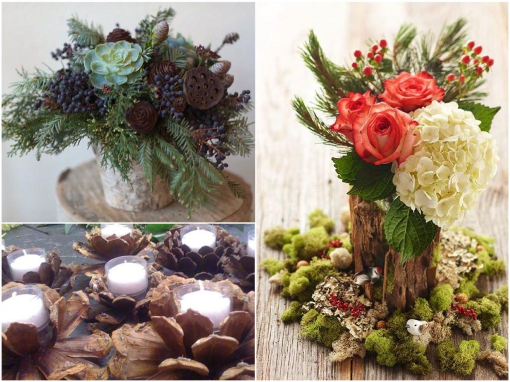 Оформление новогодних банкетов цветами