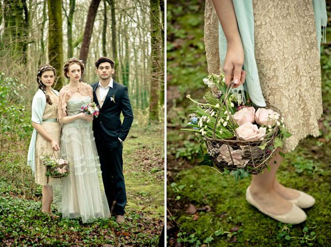 Свадебный декор с полевыми цветами