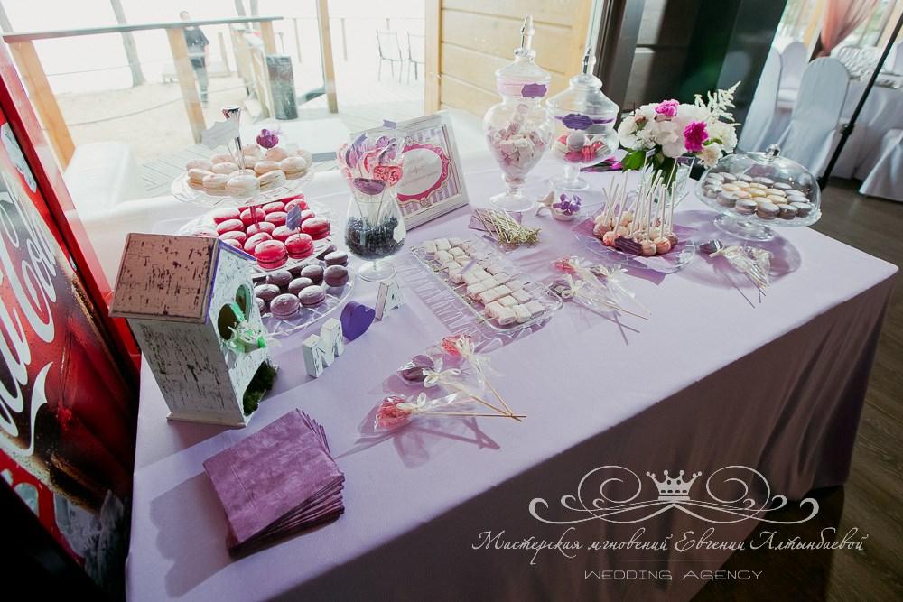 Декор кэнди бара на свадьбе