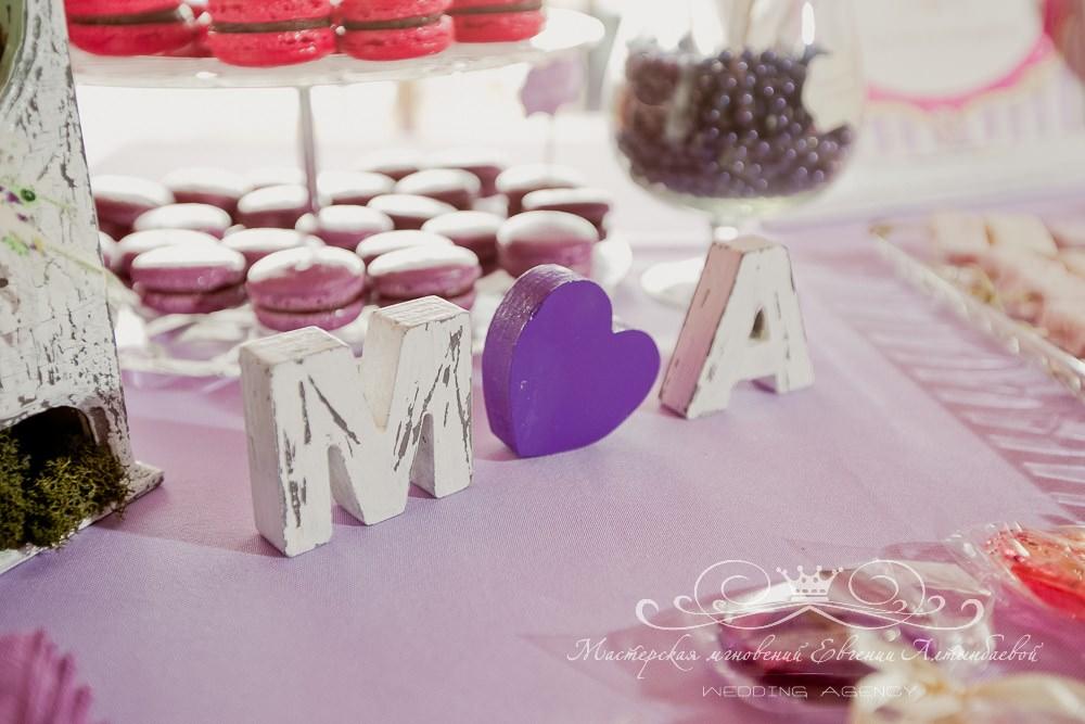 Деревянные буквы для свадьбы
