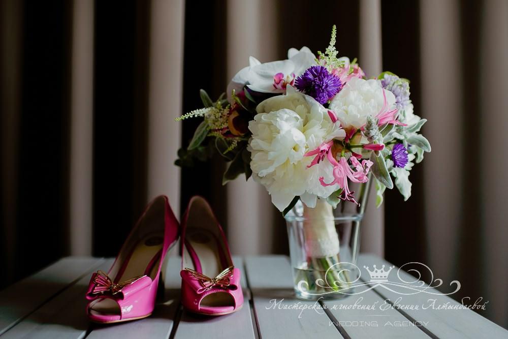 Фиолетовый и розовый цвет свадьбы