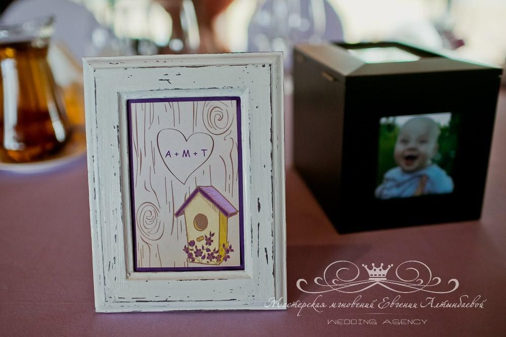 Карточки с номерами столов на свадебном банкете