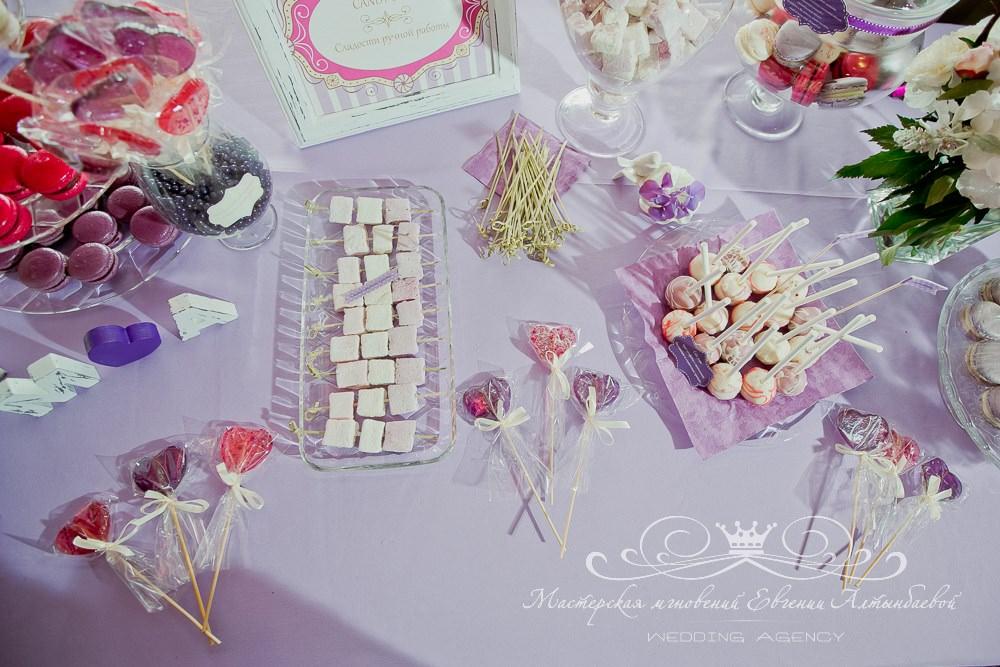 Сладости для кэнди бара на свадьбе