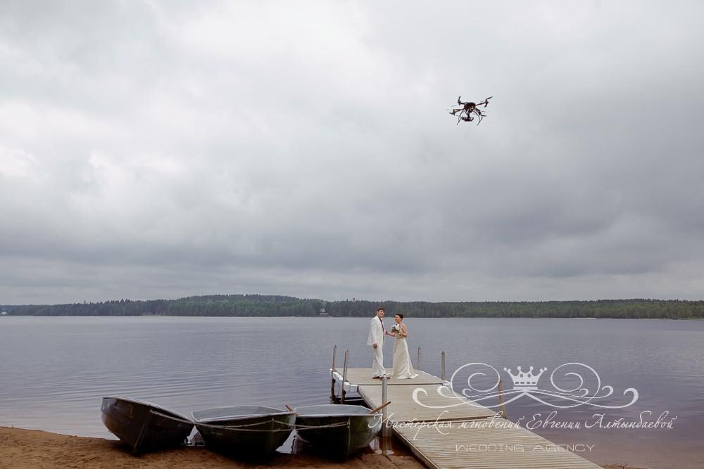 Вертолетная съемка свадьбы