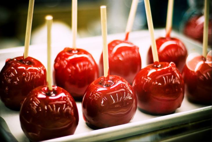 Яблоки запеченные в карамели для свадьбы