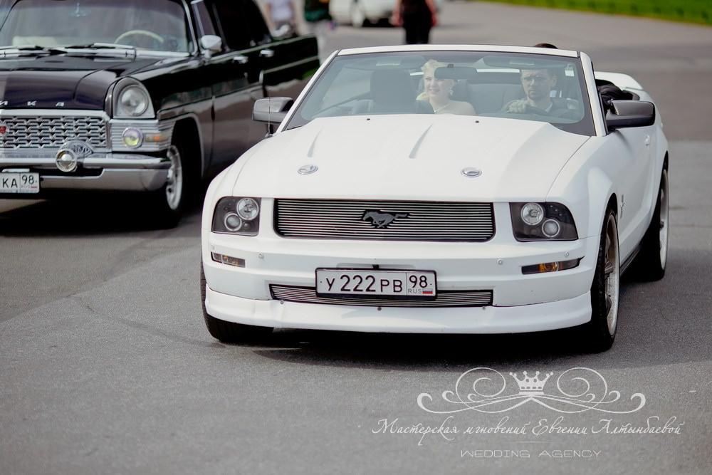 Кабриолет Форд Мустанг на свадьбу в СПб