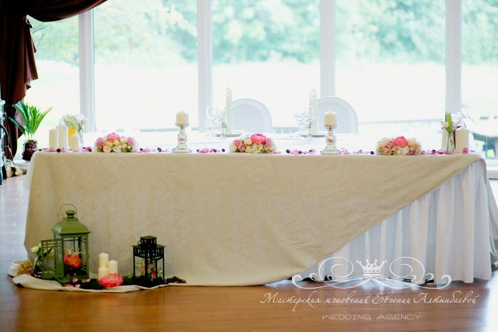 Оформление президиума на свадьбе в Драгунском ручье