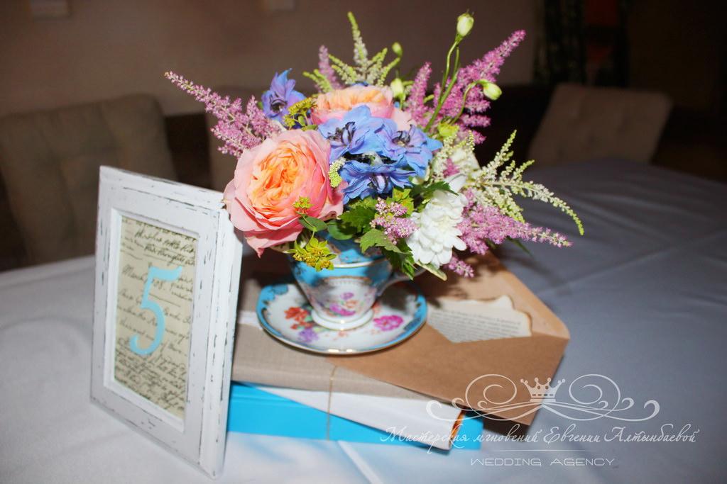 Оформление столов гостей на свадьбе