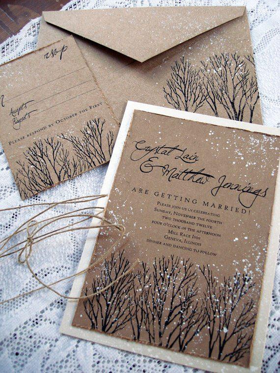 Свадебные приглашения на зимнюю свадьбу