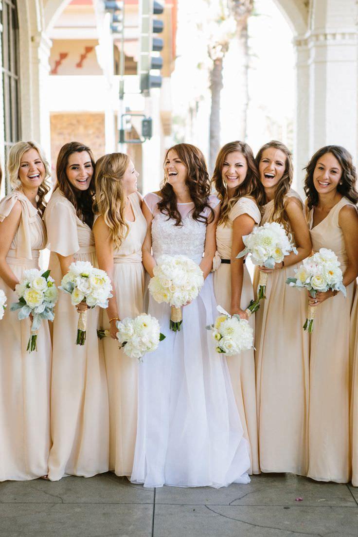 Бежевый цвет на свадьбе