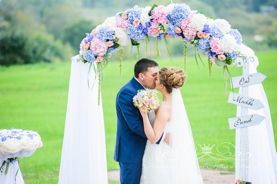 Гортензия на свадьбе