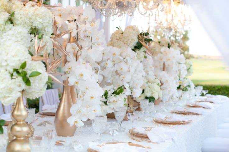 Оформление свадьбы с орхидеями