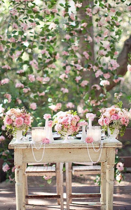 Нежное оформление свадьбы в розовом цвете