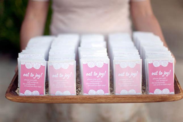 Бонбоньерки для гостей на свадьбу с эффектом омбре