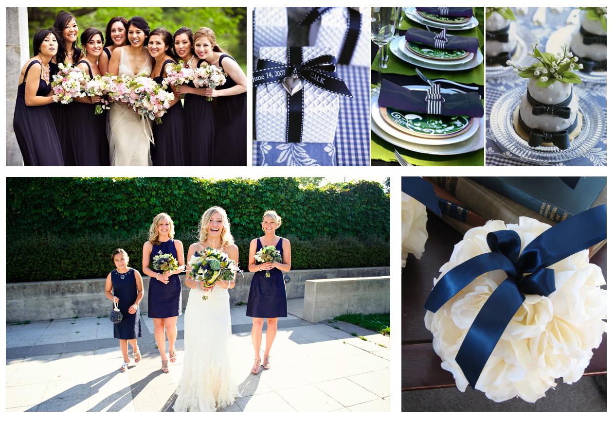 Свадьба в тёмно-синих тонах