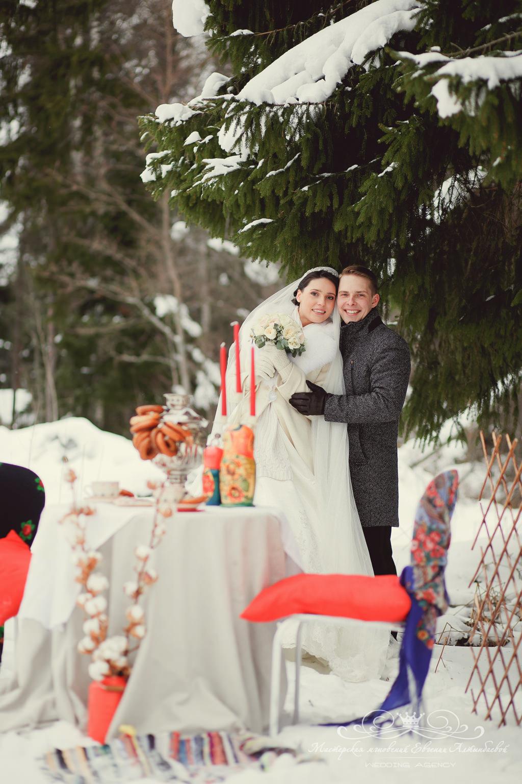 декор для свадебной фотосессии в русском стиле