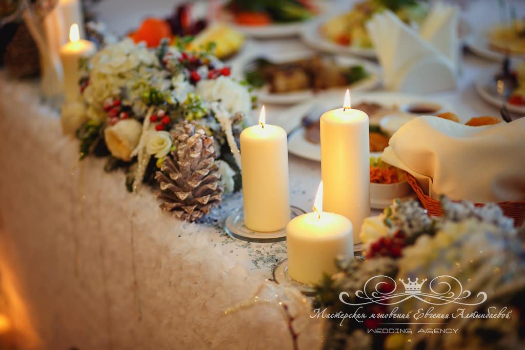 декор свадьбы в зимнем стиле