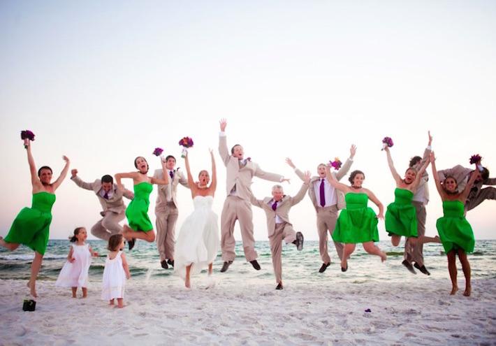 Идеи для свадебной фотосессии с гостями