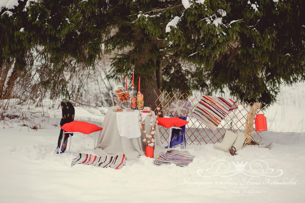 оформление свадебной фотосессии в русском стиле