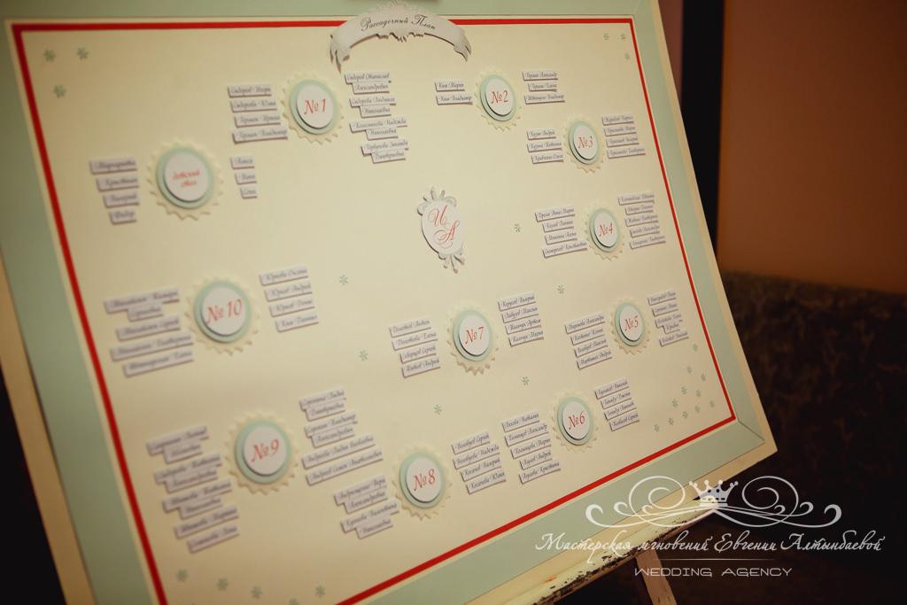 план рассадки для свадьбы в зимнем стиле