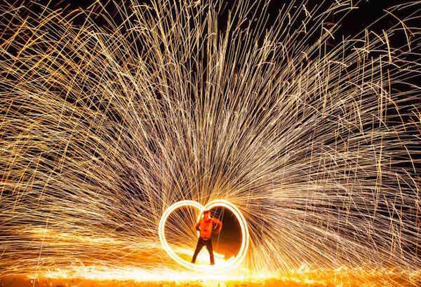 fire-show на свадьбе