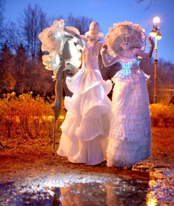 театр на ходулях на свадьбе