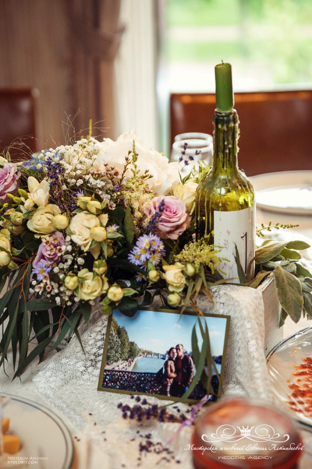 композиции на гостевые столы в стиле прованс