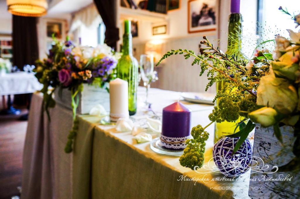 Лен в свадебном декоре