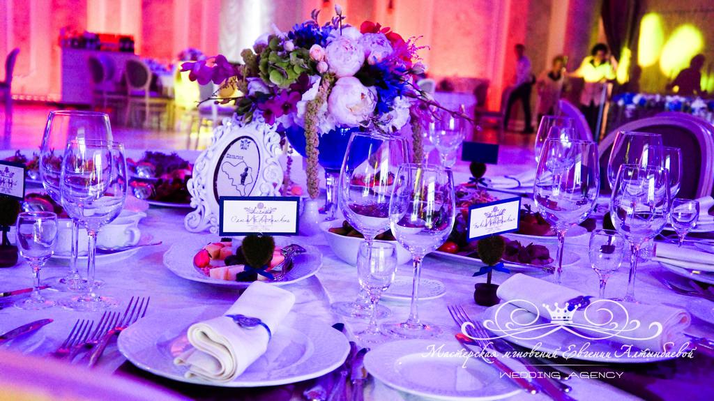 детали свадебного оформления в едином стиле в Летнем Дворце