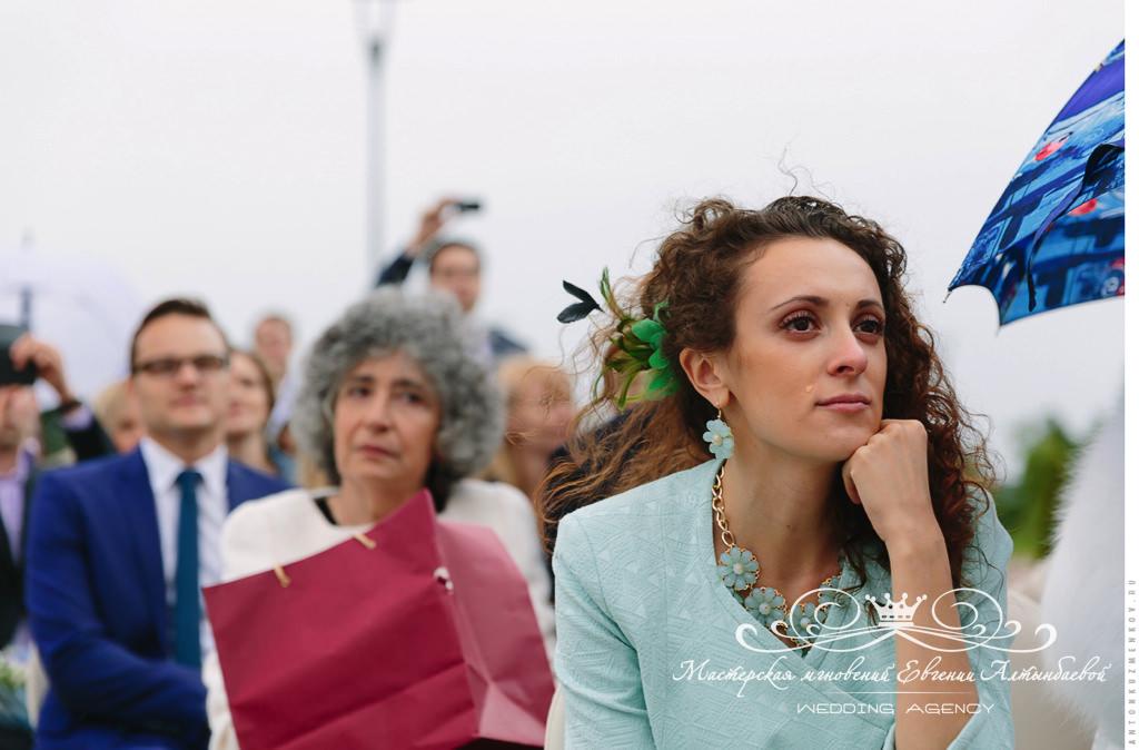 Эмоции гостей во время выездной регистрации