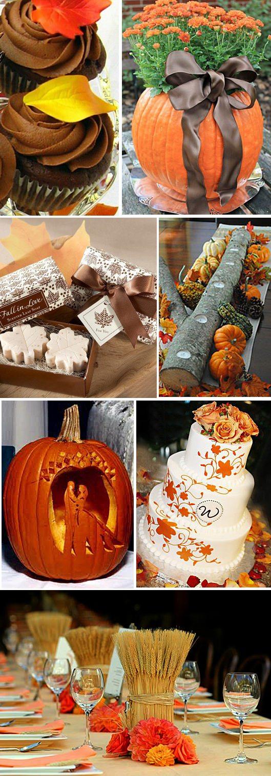 Идеи для декора свадьбы осенью