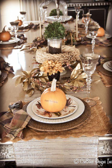 Оформление осеннего свадебного стола