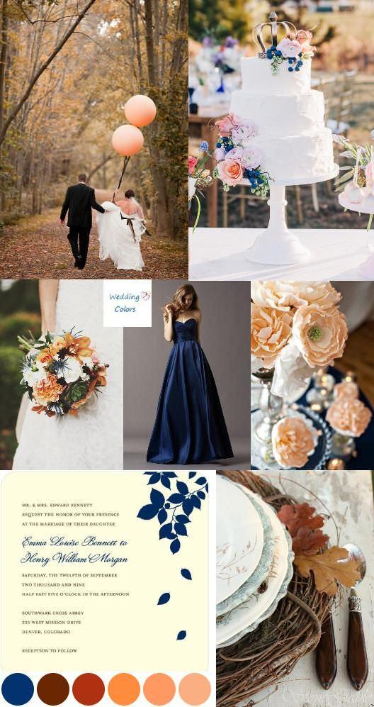 Осенняя свадебная палитра
